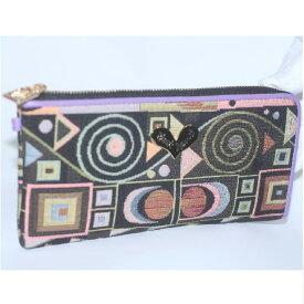 【中古】本物未使用シンクビーのカラフルな財布ジャストハート サイズW19,5H9,5D2cm ○C15-262