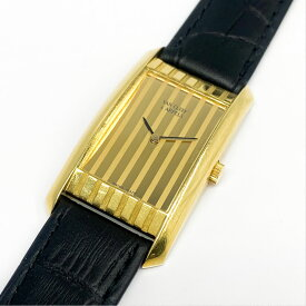【中古】本物完動品バンクリーフ&アーペルVAN CLEEF & ARPELS 紳士用K18YG750 金無垢重さ27.7g クォーツ腕時計 1ヶ月保証付き ○A10-18