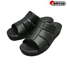メンズ オフィスサンダル オフィスシューズ 24004 ピエールタラモン pierretalamon 日本製 ビジネスサンダル ビジネススリッパ スーツ おしゃれ 社内履き かかとなし 黒 ブラック イチマツ おすすめ
