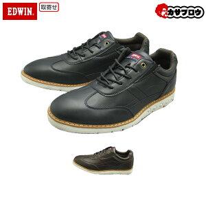 EDWIN メンズスニーカー EDM846 エドウィン カジュアルスニーカー メンズ 軽量 シンプル ロングノーズ 紐靴 おすすめ
