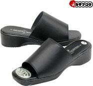 オフィスサンダル脱ぎ履き楽がオフィスで人気のシンプルなサンダル黒