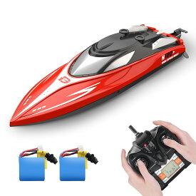 【楽天倉庫直送】 ラジコン 船 ボート 高速 ラジコンボート こども向け リモコン 28km/h 防水性 RCスピードボート おもちゃ 2.4Ghz無線操作 贈り物 H120