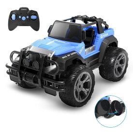 【楽天スーパーSALE11%OFF】 ラジコンカー 子供 オフロード RCカー リモコンカー おもちゃ 1/18 操作時間80分 2.4GHz 防振 プレゼント 贈り物 DE42