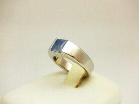 【送料無料】カルティエ Cartier タンクリング ムーンストーン WG 日本サイズ ♯9    6月の誕生石 指輪 【中古】【smtb-TD】【在】