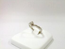 【送料無料】4℃ PT950 ダイヤリング 1粒石 0.151ct ダイヤモンド レディース 指輪 PT 【中古】【smtb-TD】【在】