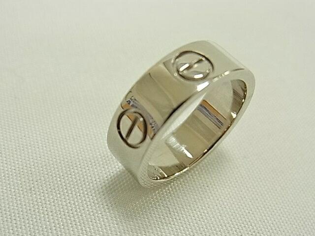 【送料無料】カルティエ ラブリング K18ホワイトゴールド WG #46(日本サイズ6号)レディース 指輪 【中古】【smtb-TD】