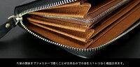 財布メンズ長財布スペインレザー牛床革デニム調ラウンドファスナー使いやすい財布人気ブランドVACUA【VA-011D】