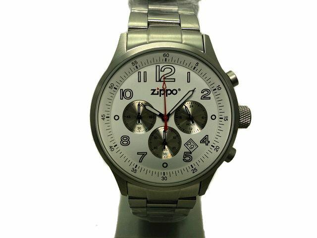 【新品】ZIPPO★ジッポーメンズクォーツ腕時計 クロノグラフ45000-QG