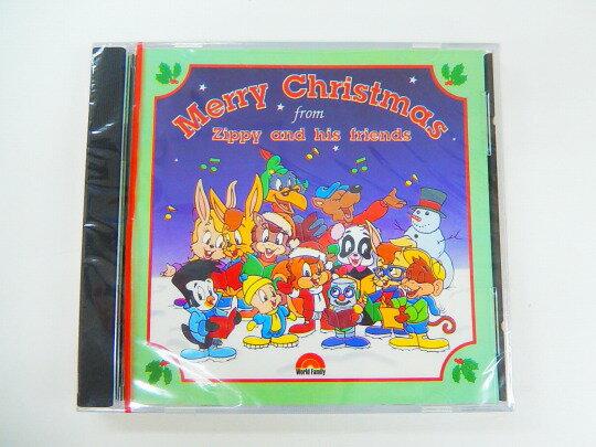 希少◆ZippyクリスマスCD「Merry Christmas from Zippy and his friends」◆ディズニー英語システム【中古】ワールドファミリー DWE 英語教材 幼児教材 子供教材 知育教材