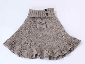 ♪kuridujowa/Cri de Joie♪105-115cm左右(S)編織物披肩淺駝色童裝小孩kids女人的孩子
