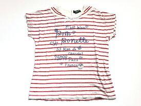 〓ポンポネット/pom ponette〓 160cm 半袖カットソー/半袖Tシャツ 赤×白 ボーダー【中古 USED】子供服 キッズ kids ジュニア 女の子 夏