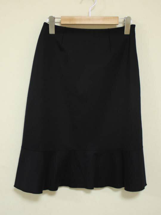 【SALE】《courreges/クレージュ》スカート ブラック/黒 レディース 36【中古 古着 USED】