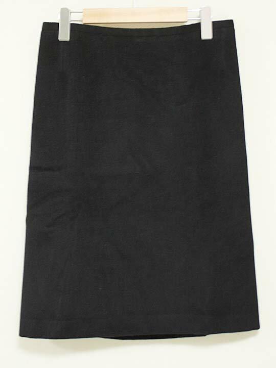 【新規値下げ】《agnes b/アニエスベー》ウールスカート ブラック/黒 レディース 38【中古 古着 USED】 秋冬