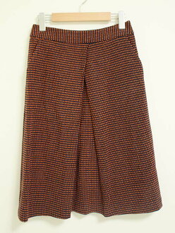 << SHIPS/ ships >> the skirt brown X navy / brown X dark blue Lady's 38 four season