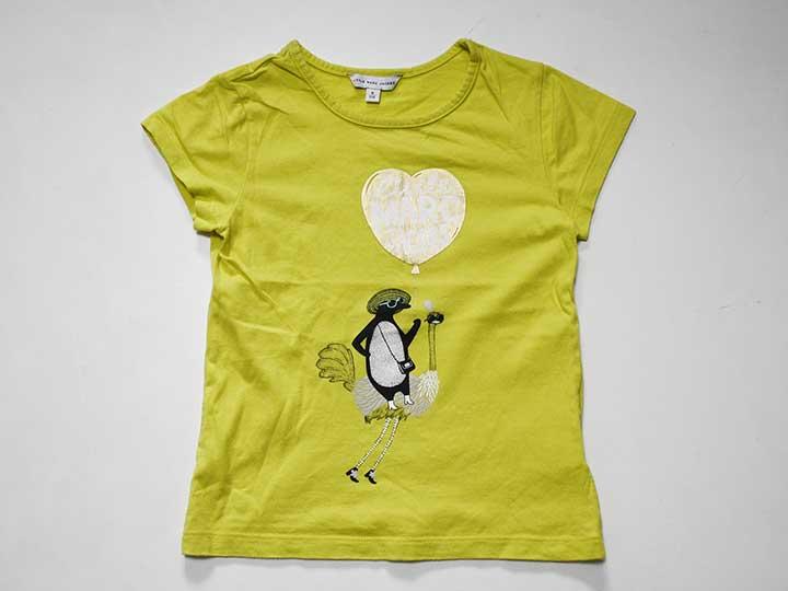 【夏物 新入荷!】《リトルマークジェイコブス/Little Marc Jacobs》114cm 半袖Tシャツ/半袖カットソー 黄色【中古 USED】子供服 キッズ kids 女の子 夏