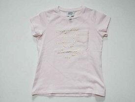 39528c3ff267f 《アルマーニ ジュニア Armani Junior》118cm 半袖Tシャツ 半袖カットソー ピンク 中古 USED 子供服 キッズ kids 女の子  夏