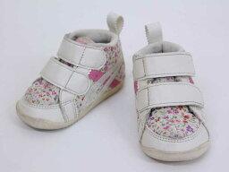 ▲亞瑟士/asics▲11.5cm運動鞋/鞋/鞋清白派的花紋小孩小孩kids嬰兒baby女人的孩子春天夏天