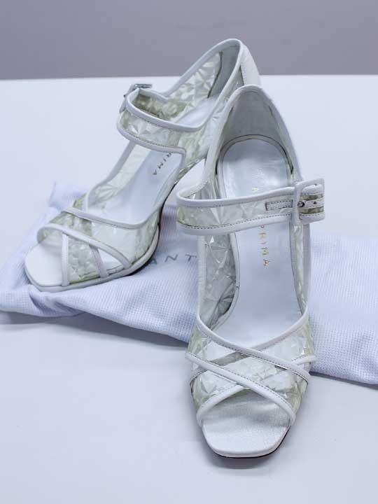 【SALE】●ANTEPRIMA/アンテプリマ●サンダル/靴 ホワイト/白 レディース 36/23cm位【中古 古着 USED】夏