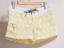 [超級市場SALE]‡patagonia/巴他戈尼亞‡遊泳褲子白×黄色/白×黄色女士2[中古的舊衣服USED]夏天
