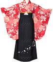 卒業式 袴 袴セット 女 二尺袖着物と袴の5点セット 赤4 小学生 ジュニア用にも完全対応 [送料無料]