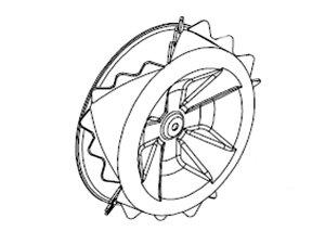 スパイダーモアー SP550・SP850・SP851用スパイク車輪 #0229-30403