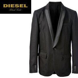 ■DIESEL BLACK GOLD ディーゼル ブラックゴールド メンズ■微光沢 デニム素材 シングル 1B テーラードジャケット【JOHRDY-NEW】【サイズ48】【ブラック】die-m-o-78-456 《メーカー希望小売価格72,360円》