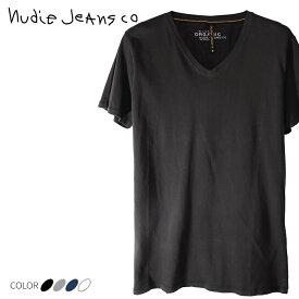 ■Nudie Jeans ヌーディージーンズ メンズ■Vネック 無地 シンプル 半袖 Tシャツ【V-NECK T-SHIRT NJ/T03】【サイズXS〜XXL】【4カラー】ndj-m-t-83-406 《メーカー希望小売価格5,184円》