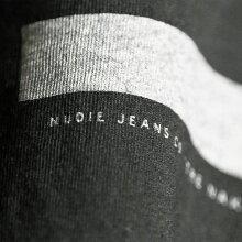 ■NudieJeansヌーディージーンズメンズ■Oネックラウンドネックプリント半袖Tシャツ【O-NECKTEEZEBRA】【サイズXS〜L】【ブラック×グレー】ndj-m-t-83-523詳細画像5