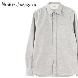 ■Nudie Jeans ヌーディージーンズ メンズ■マイクロチェック柄 長袖 コットンシャツ【HENRY/MICRO CHECK】【サイズXS〜L】【ライトグレー】ndj-m-t-83-595 《メーカー希望小売価格20,900円》