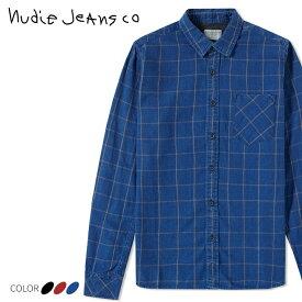 ■Nudie Jeans ヌーディージーンズ メンズ■チェック柄 長袖 コットン フランネルシャツ【HENRY/FLANNEL CHECK】【サイズXS〜L】【3カラー】ndj-m-t-83-613 《メーカー希望小売価格20,900円》