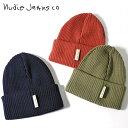 ■Nudie Jeans ヌーディージーンズ メンズ レディース 男女兼用■オーガニックコットン リブニット ニット帽 ニットキ…