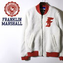 ■FRANKLIN & MARSHALL フランクリン&マーシャル メンズ■ロゴパッチ ジップアップ MA-1タイプ ボアジャケット【JACK…