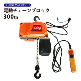 電動チェーンブロック300kg 電気チェーンホイスト 揚程3.7m KIKAIYA