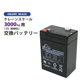 クレーンスケール3000kg(CS-3000L)用 交換バッテリー KIKAIYA