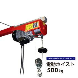 【送料無料】電動ホイスト500Kg 最大揚程12m 電動ウインチ100V KIKAIYA
