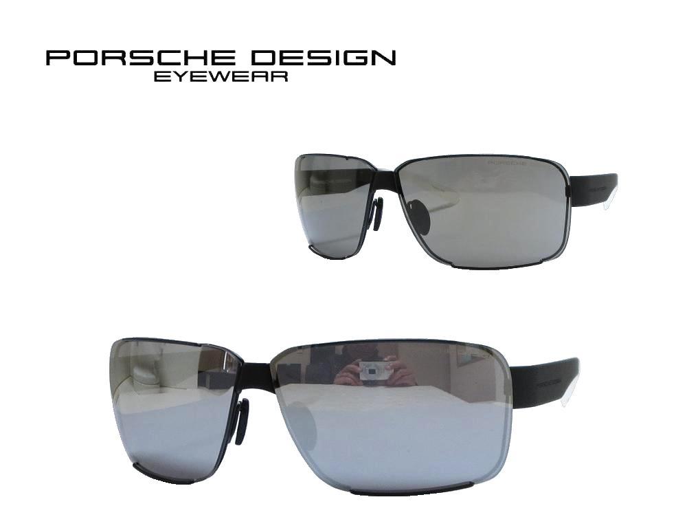 送料無料【PORSCHE DESIGN】 ポルシェデザイン サングラス  P8580-A  マットブラック  スペアレンズ付属 国内正規品 《数量限定特価品》