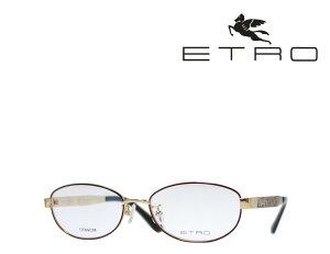 送料無料【ETRO】 エトロ メガネフレーム ET2502J 710 ブラウン・ゴールド 日本製 TITANIUM製 国内正規品 《数量限定特価品》