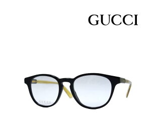 【GUCCI】 グッチ メガネフレーム GG0491O 005 ブラック/イエロークリア 国内正規品