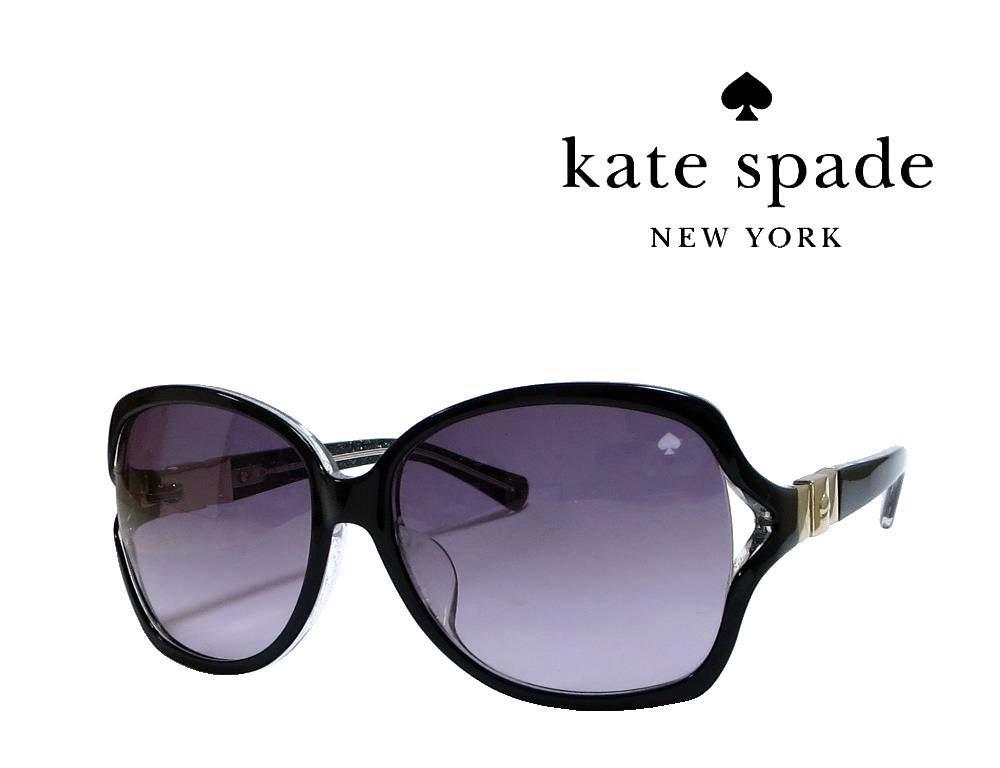 【Kate spade】ケイトスペード サングラス FRIDA/F/S  PLT ブラック アジアンフィット 国内正規品