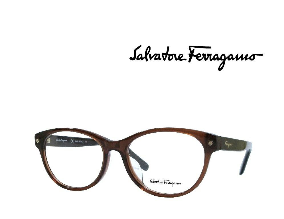 【Salvatore Ferragamo】サルヴァトーレ フェラガモ メガネフレーム  SF2770A 210  ブラウン  国内正規品