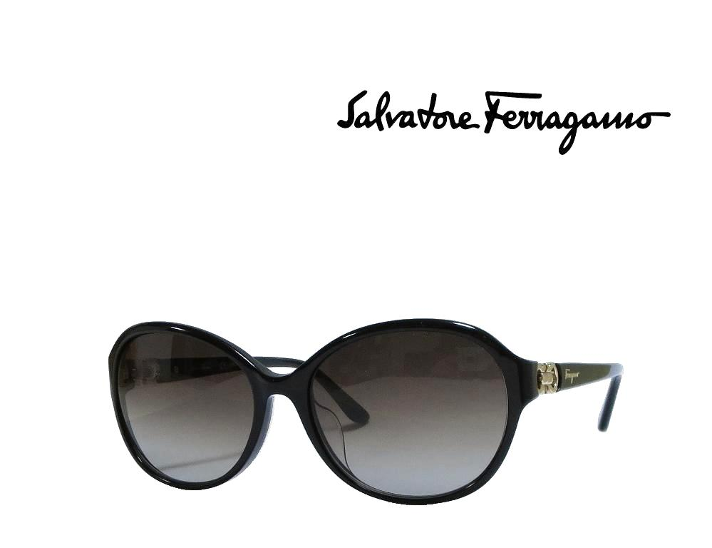 【Salvatore Ferragamo】 サルヴァトーレ フェラガモ サングラス SF804SA 001  ブラック  国内正規品