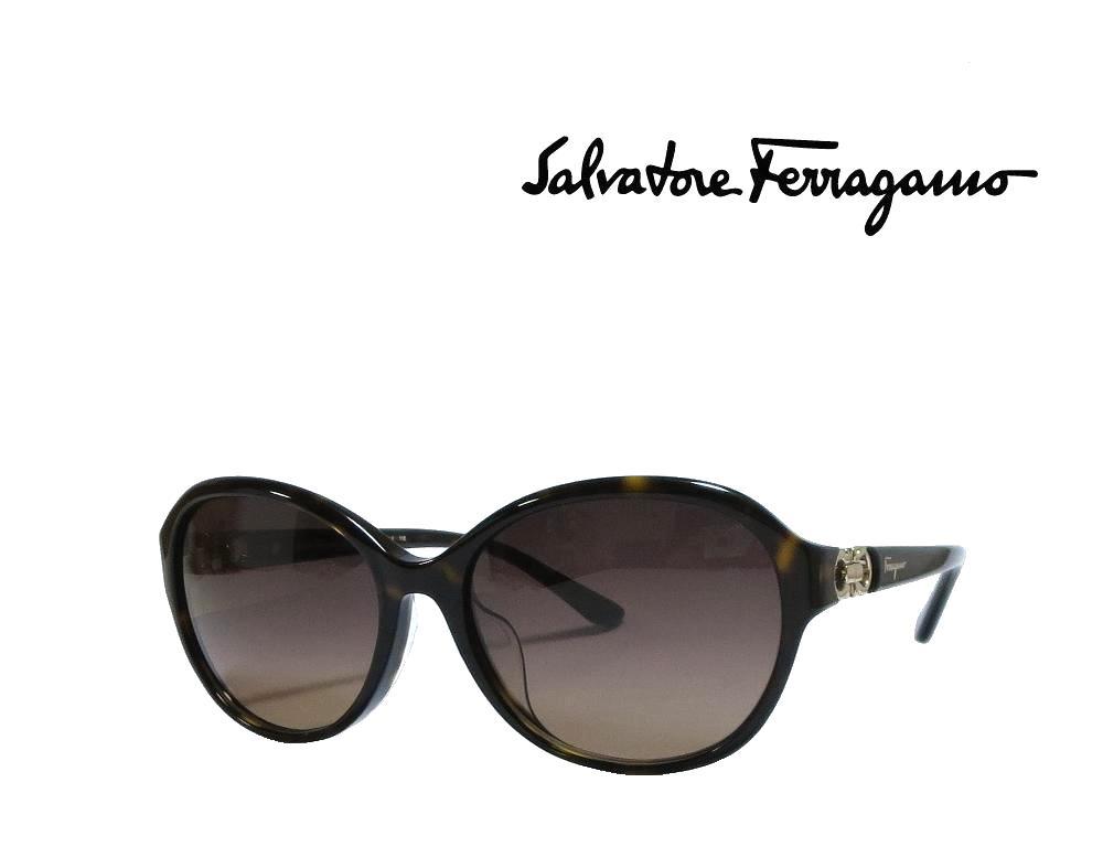 【Salvatore Ferragamo】 サルヴァトーレ フェラガモ サングラス SF804SA 214  トータス  アジアンフィット 国内正規品