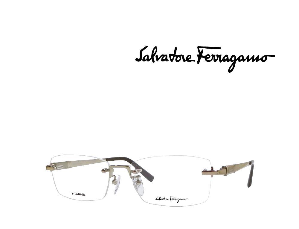 【Salvatore Ferragamo】 サルヴァトーレ フェラガモ メガネフレーム  SF2527A   717   ゴールド  国内正規品