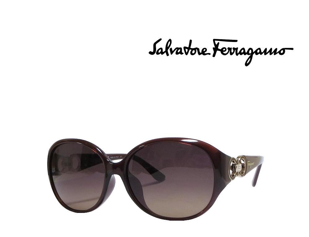 【Salvatore Ferragamo】サルヴァトーレ フェラガモ サングラス SF896SRA 210  ブラウン  アジアンフィット 国内正規品