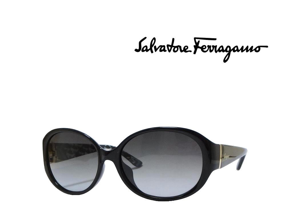 【Salvatore Ferragamo】サルヴァトーレ フェラガモ サングラス SF683SA 001  ブラック  アジアンフィット 国内正規品