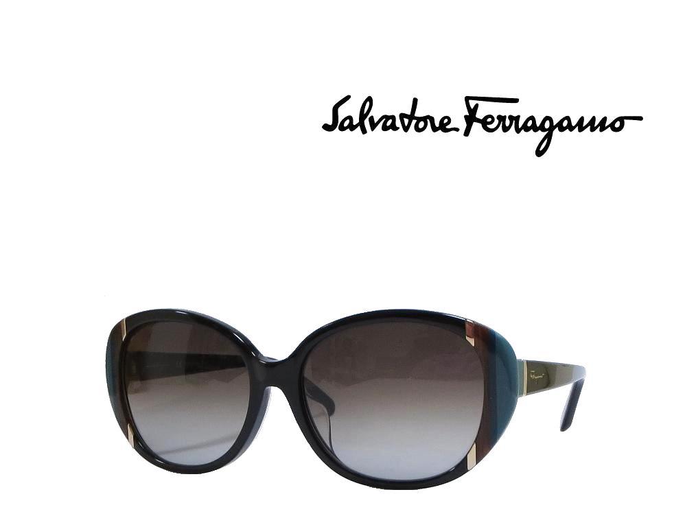 【Salvatore Ferragamo】 サルヴァトーレ フェラガモ サングラス SF842SA 001  ブラック アジアンフィット アジアンフィット 国内正規品
