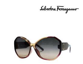 【Salvatore Ferragamo】 サルヴァトーレ フェラガモ サングラス SF962SA 212  ワイン・キャラメル  国内正規品