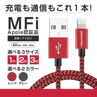 【HANATORA】microUSBケーブルZEBRAメッシュタイプ2m