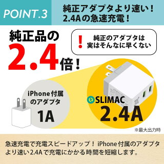 ACアダプター充電器2ポートPSE認証折り畳み式プラグ急速充電軽量USBコンセント同時充電iPhoneAndroidモバイルバッテリースマートフォンタブレットiPadスマホデジカメ携帯ゲーム電子書籍最大出力2.4AHANATORA