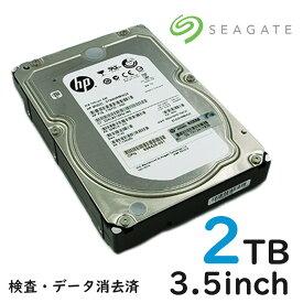 中古 SAS サーバー用 内蔵ハードディスク 2TB (2000GB)3.5インチ HDD テスト済み 7200RPM Seagate Constellation ES ST32000444SS データ消去済 宅配便配送商品 代金引換不可